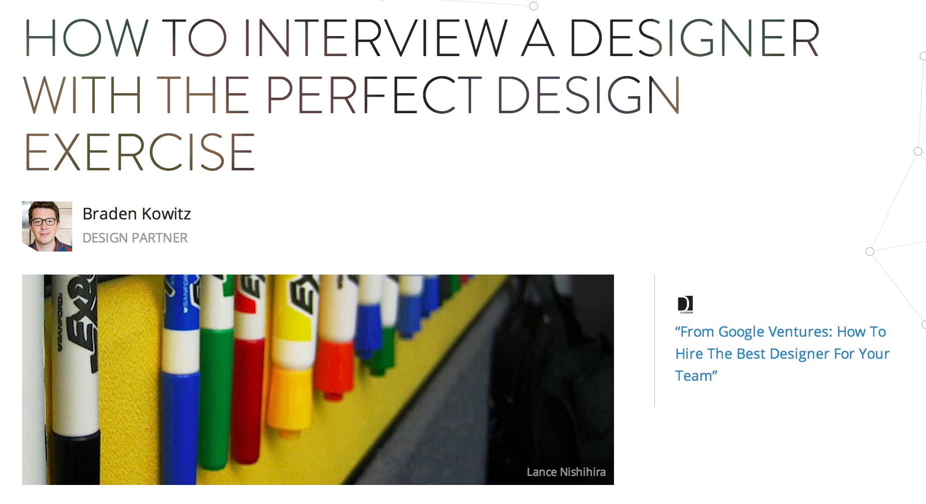 how to interview a designer the perfect design exercise design exercise